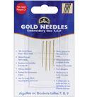 DMC Gold Embroidery Hand Needles-Size 7-8-9 4/Pkg