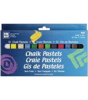 Loew Cornell Chalk Pastels-12PK, , hi-res