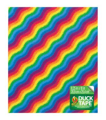 Duck® Tape Sheet 8.25''x10''-Rainbow