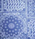 Home Essentials Lightweight Decor Fabric 45\u0022-On The Farm Bandana Blue