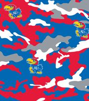 "University of Kansas Jayhawks Cotton Fabric 44""-Camo, , hi-res"