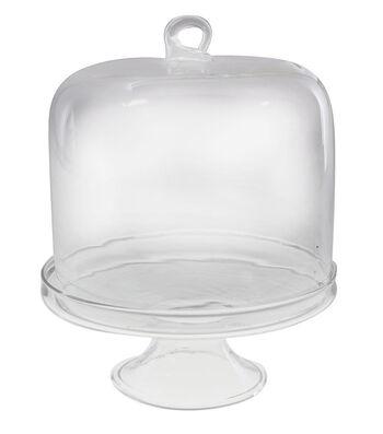 Small Dome Display Glass Cake Stand