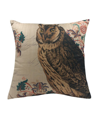 Fall Into Color 18''x18'' Pillow-Owl