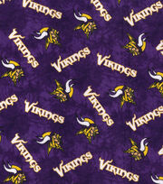 "Minnesota Vikings Flannel Fabric 42""-Tie Dye, , hi-res"