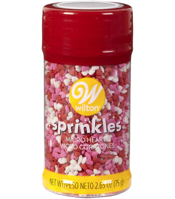 Wilton® Valentine's Day Micro Heart Sprinkles-Red, Pink & White