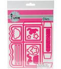 Pink And Main Dies-Box Card