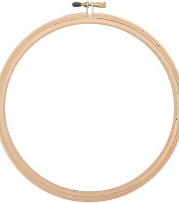 "Frank A. Edmunds Wood Embroidery Hoop w/Round Edges 7""-Natural"