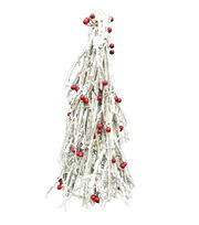 Maker's Holiday Large Berry Cone Tree-White, , hi-res