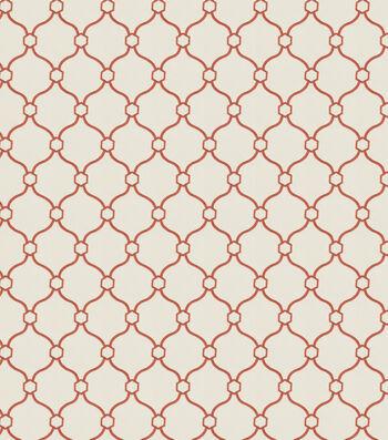 "Eaton Square Print Fabric 53""-Text Book/Coral"