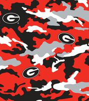 "University of Georgia Bulldogs Cotton Fabric 44""-Camo, , hi-res"