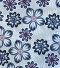 Snuggle Flannel Fabric 42\u0022-Pink Blue Flowers