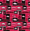 University of Arkansas Razorbacks Fleece Fabric 58\u0022-Block