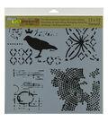 Crafter\u0027s Workshop 12\u0027\u0027x12\u0027\u0027 Template-Raven Mosaic