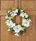 Spring Floral 22\u0027\u0027 Magnolia Dogwood Hydrangea Wreath Pink & Green