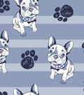 Anti-Pill Fleece Fabric 59\u0022-French Bulldog Stripe