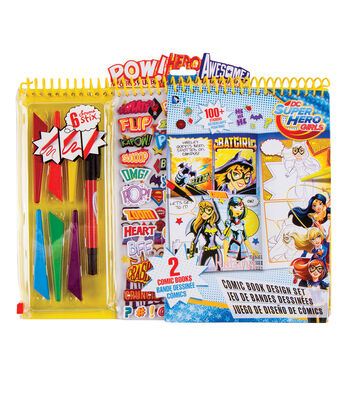 DC Comics Super Hero Girls Comic Book Design Set