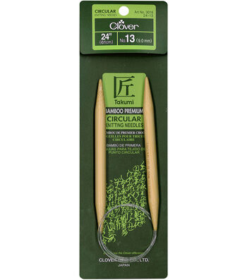 "Takumi Bamboo Circular Knitting Needles 24""-Size 13/9mm"