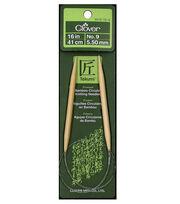 "Clover Bamboo 16"" Circular Knitting Needle-Size 9, , hi-res"