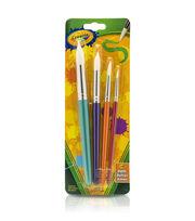 Crayola Big Paint Brushes 4/Pkg-Round, , hi-res