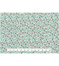 Keepsake Calico™ Cotton Fabric 43\u0022-Packed Floral Mint