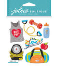 Jolee\u0027s Boutique Dimensional Stickers-Get Fit
