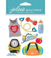 Jolee's Boutique Dimensional Stickers-Get Fit, , hi-res