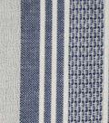 Cotton Fabric 42\u0027\u0027-Blue & White Variegated Stripe