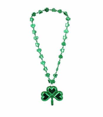 St. Patrick's Day 19'' Shamrock Necklace