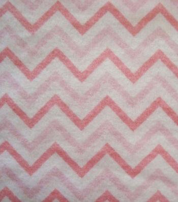"3 Yard Pre-Cut Snuggle Flannel Fabric 42""-Chevron Pink"