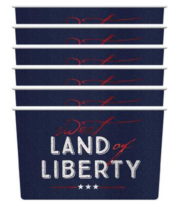 Americana Patriotic 6 pk Dessert Cups-Sweet Land of Liberty