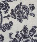 Luxe Fleece Fabric 59\u0022-Taupe Floral Oat Heather