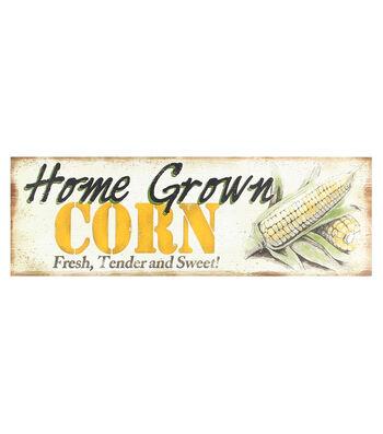 Wood Wall Plaque-Corn