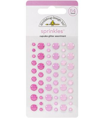 Doodlebug Sprinkles Self-Adhesive Glitter Enamel Embellishments