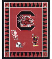 "University of South Carolina Gamecocks Fleece Fabric Panel 60""-Logo, , hi-res"
