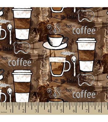 "Snuggle Flannel Fabric 42""-Coffee Anyone"