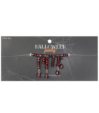 hildie & jo™ Halloween Illusion Choker Necklace with Blood Crystal