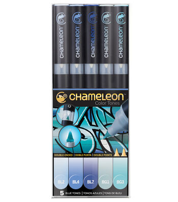 Chameleon 5 pk Color Tone Pens-Blue Tones