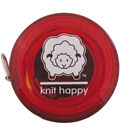 Knit Happy Tape Measure 60\u0022-Red