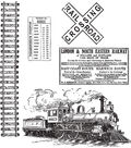 Tim Holtz Cling Rubber Stamp Set-On The Railroad