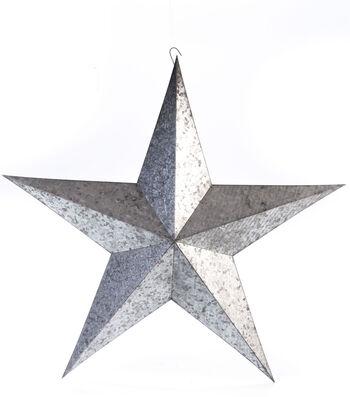 Americana Patriotic 24'' Galvanized Metal Star