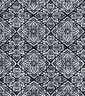 Luxe Flannel Fabric 42\u0022-Culture Stamp Black & White