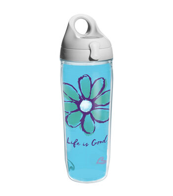 Tervis 24oz. Water Bottle-Life is Good & Daisy