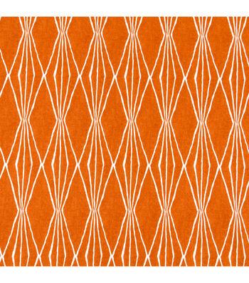 "Robert Allen @ Home Print Fabric 55""-Handcut Shapes / Orange Crush"