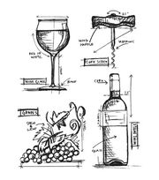 "Tim Holtz Cling Stamps 7""X8.5""-Wine Blueprint, , hi-res"