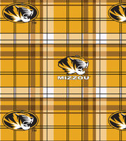 "University of Missouri Tigers Fleece Fabric 58""-Plaid, , hi-res"
