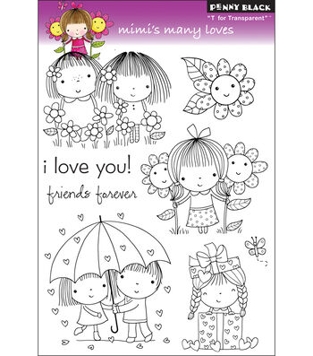 "Clear Stamps 5""X7.5"" Sheet-Mimi's Many Loves"