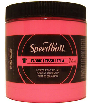 Speedball Fabric Screen Printing Ink Fluorescent 8oz