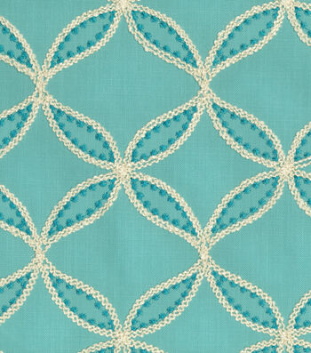 "Williamsburg Upholstery Fabric 52""-Tanjib Emb/Peacock"