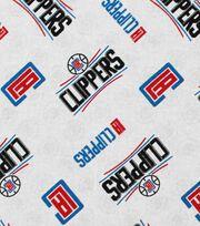 """LA Clippers Cotton Fabric 44""""-Logo Toss, , hi-res"""