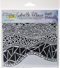 Crafter\u0027s Workshop Gabrielle Pollacco Template 6\u0027\u0027x6\u0027\u0027-Crazy Waves